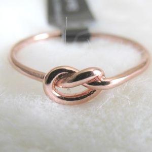 Sterling Forever 14k Rose Gold Knotted Ring